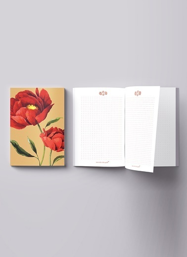 LWP Shop Red Poppy Notebook Renkli